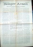 1899 'SEMPRE AVANTI' GIORNALE MONARCHICO NUMERO UNICO
