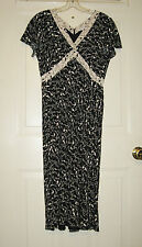 Terrific! Women's Black & Off White Liz Claiborne High Heels Dress, Sz 6
