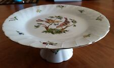 "Vintage Georges Briard WOODLAND MELODY 10"" Footed Cake Plate Stand Birds Japan"