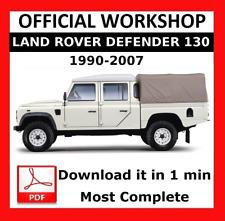 >> OFFICIAL WORKSHOP Manual Repair Land Rover Defender 130 1990 - 2007