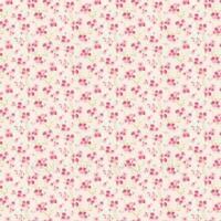 Puppenhaus Miniatur rosa Blüte Tapete