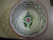 BEAUTIFUL HAND PAINTED FROM PORTUGAL RETICULATED BOWL RCCL EXCELLENT CONDITION
