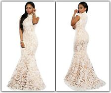 Mermaid White sequinned full-length formal Wedding Dress IN STOCK AUsize 8,12(L)