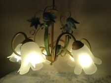 French / Italian Style Tole 5 Arm Chandelier Ceiling Light - Toleware