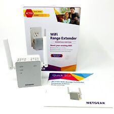 NETGEAR AC750 Wi-Fi Range Extender, Signal Booster & Repeater, Wall Plug, EX3700