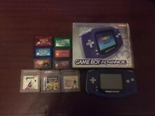Nintendo Gameboy Advance Console Boxed + 9 Games Pokemon Sapphire Emerald Ruby