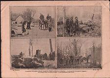 WWI  Poilus Flandre Somme Espion Cavalier Forêt Spy Rider Wood 1915 ILLUSTRATION