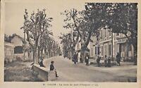 Postcard France Salon-de-Provence - La Route du pont d'Avignon LL Black & White