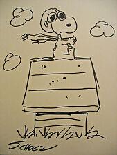 Charles Schulz Original vintage drawing art,signed Peanuts,Charlie, Snoopy