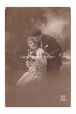 look innamorato antique card photography d'epoca amore pair vintage inn