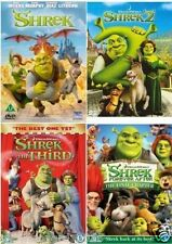 SHREK Quadrilogy 1 - 4 DVD Set Collection Part 1 2 3 4 + EXTRAS New UK Box