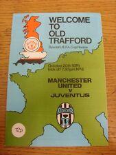 20/10/1976 Manchester United v JUVENTUS COPPA UEFA [] (Token rimossi). articolo appare