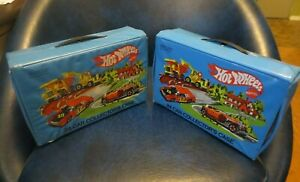 Lot of 2 Mattel Hot Wheels # 8227 24 Car Collectors Cases with trays