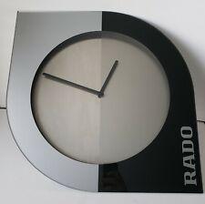 Rado Watches Wall Clock Dealer Display Collectors Item Silver Gray Large 19 inch