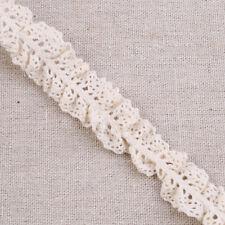 5 Yards Cotton Elastic Lace Trim Ribbon Fabric Craft Stretch Ruffle Trimming