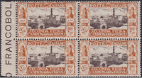 Italy Libia - Sassone n. 76  cv 145$  MNH** block with margin sheet