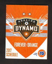 Houston Dynamo--2017 Pocket Schedule--Kroger