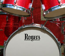 Rogers UK, 60s Vintage, (DC5) Repro Logo - Adhesive Vinyl Decal, for Bass Drum