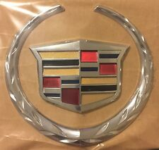 2007-2014 Cadillac Escalade Front Grill Emblem#2298536 Two Piece WREATH CREST GM