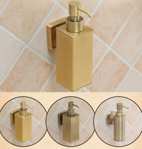 Brass Bathroom Soap Dispenser Liquid Shampoo Lotion Bottle Wall Mount Holder D26