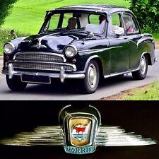 Rare Collectible Original 1950s Morris Isis Front Bonnet Chrome Badge / Emblem