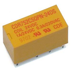 Cornell Dublier 24 Volt DC DPDT Miniature PC Mount Compact Relay USA Seller