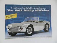 Danbury Mint 1:18 Sclae 1962 SHELBY AC/COBRA  Brochure Pamphlet Mailer