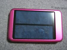 Solar 10000mAh Portable USB External Battery Charger Power Bank Cell Phone Pink