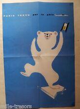 Affichette AIR FRANCE PARIS TOKYO par le POLE - Calendrier 2006