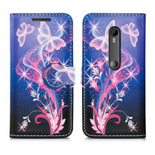 for Nokia 2 Leather Wallet Book With Card Slot Fone Phone Protect Case Cover Nokia 3 Ultra Butterfly - Flower Butterflies Fly Fantasy