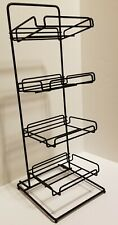 Countertop 4 tier Display Rack Black Wire for boxed candy or impulse items