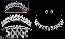 BRIDAL/WEDDING  Crystal/Diamonte Necklace Set with Head Piece STUNNING SET *186*