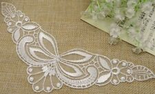 """New listing 60 Pcs White Butterfly Lace Sew-On Appliques (size: 8""""x2.5"""")"""