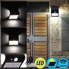 LED Solar Außen Bereich Wand Lampe Park SENSOR Terrassen Garten Beleuchtung