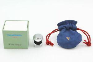 [Almost Unused] Voightlander 50mm View Finder Silver for BESSA From JAPAN