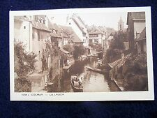 LOVELY OLD PPC: COLMAR~LA LAUCH~ALSACE~ANIMATED~BOATS ON A RIVER