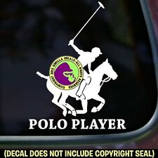 POLO PLAYER Horse Rider Equine Pony Sport Car Window Sign Vinyl Decal Sticker