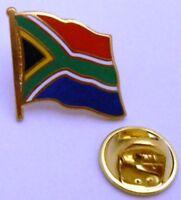 Pin / Anstecker + Südafrika + National Fahne Flagge + 20 mm + Vergoldet #38