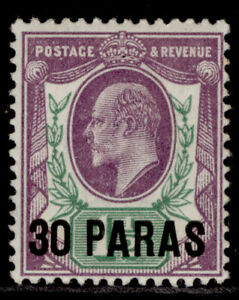 BRITISH LEVANT EDVII SG29a, 30pa on 1½d slate purple & green, M MINT. Cat £12.