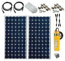 """SOLAR WELL PUMP - FOR 4"""" WELL CASING - PUMP, PANELS, CABLES, POWER BOOSTER"""