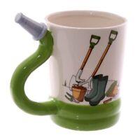 Mug Ceramic Garden Design With Hose Handle NEW