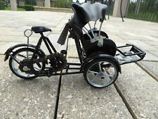 Rickshaw Moveable Bicycle Bike Diecast Rubber Tires Bike Chain TOY Made Vietnam