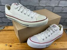 CONVERSE ALL STAR OX LOW WHITE RED BLUE CANVAS TRAINERS MANY SIZES LADIES MENS C