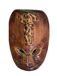 Genuine Fijian Good Luck Sea Turtle Mask 🐢Sculpture- Hand Carved