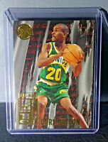 1995-96 Gary Payton Fleer Ultra All-NBA Team #9 Gold Medallion Basketball Card