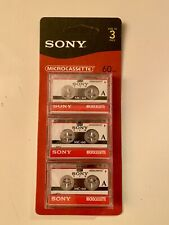 Sony MC-60 MC60 Microcassette 3 Tapes SEALED