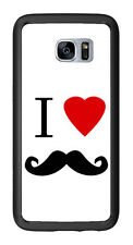 I Heart Love Mustache For Samsung Galaxy S7 Edge G935 Case Cover by Atomic Marke