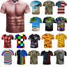 Men's T-Shirt 3D Funny Printed Hot Crew Neck Short Sleeve Casual Graphic Top Tee