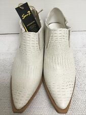 *NEW* SEVEN7 US10/FIT UK7 VEGAN CREAM MOC CROC WESTERN STYLE  ANKLE BOOTS