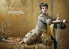CHANEL 13C Versailles Silk Pink Green Fringe Tweed Jacket Blazer 38 4 6